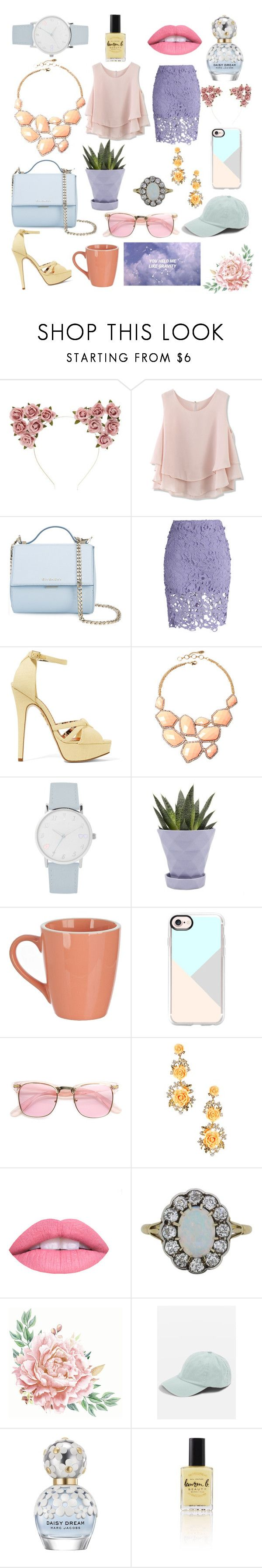 """Pastels"" by gwennie03 ❤ liked on Polyvore featuring Forever 21, Chicwish, Givenchy, Charlotte Olympia, Amrita Singh, A.X.N.Y., Chive, Casetify, ZeroUV and L.A. Girl"