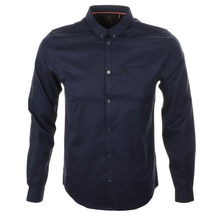 Luke 1977 Brill Twill Shirt Navy | Mainline Menswear
