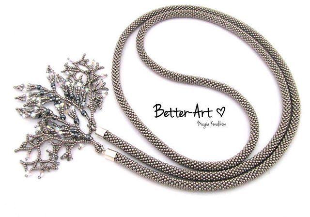 WEBSTA: #oneofakindjewelry #musthave #photooftheday #instajewelry #tohobeads #tohonickel #lariatnecklace #handmadejewelry #fringetassels #polishhandmaker #beadcrochet #beadedcrochetrope #glamour #topfashion #biconeswarovski