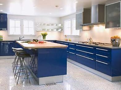 Cobalt Blue Kitchen Cabinets From Snaidero