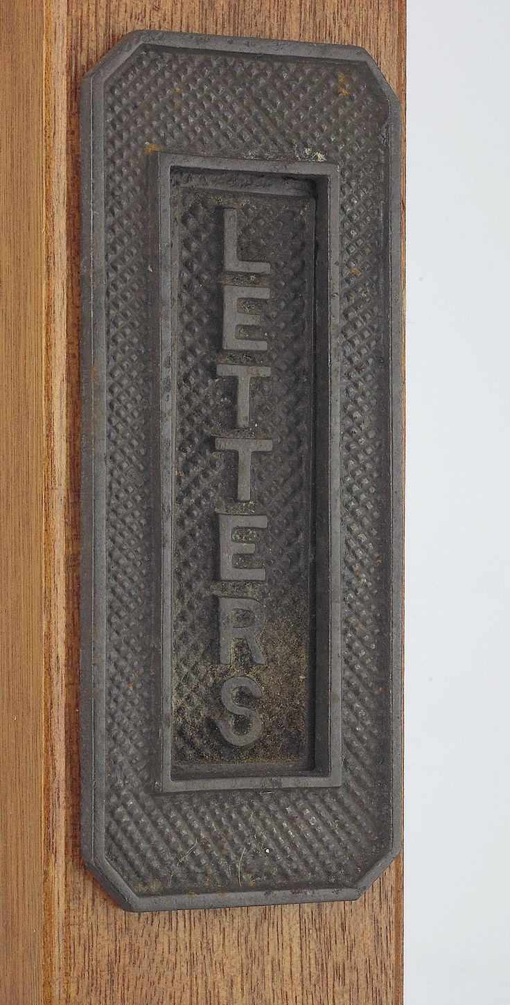 Or if you prefer something simpler, we have a lovely vertical cast iron letter plate