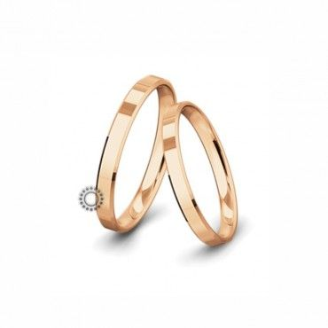 Βέρες γάμου Saint Maurice Classic ροζ χρυσός πλάτους 3.0mm επίπεδες εξωτερικά & ανατομικές | Γαμήλιες βέρες Saint Maurice ΤΣΑΛΔΑΡΗΣ στο Χαλάνδρι #SaintMaurice #βερες #γαμου #χρυσος #rings