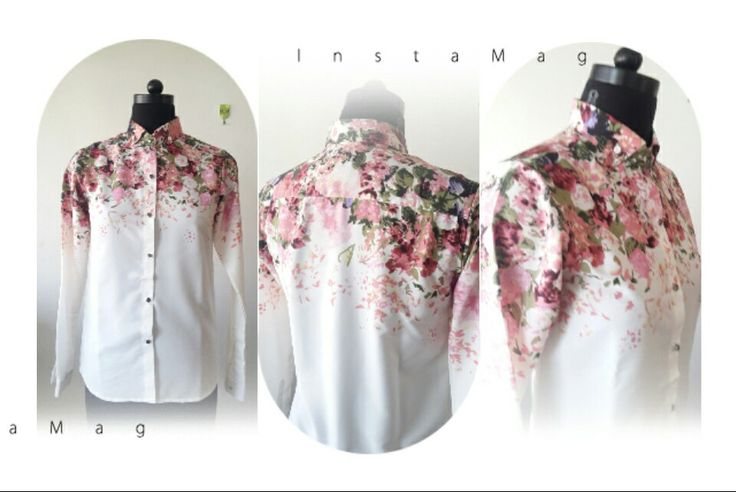 Floral ombray shirt