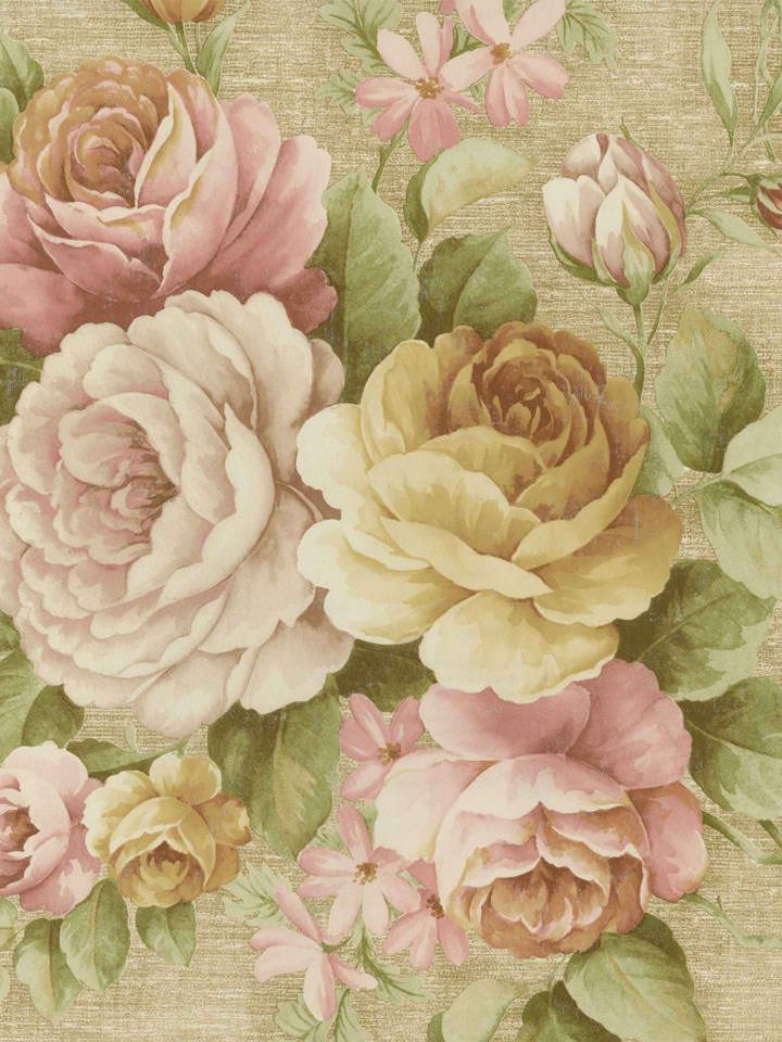 Interior Place - Pink Rosabella Floral Wallpaper, $31.46 (http://www.interiorplace.com/pink-rosabella-floral-wallpaper/)