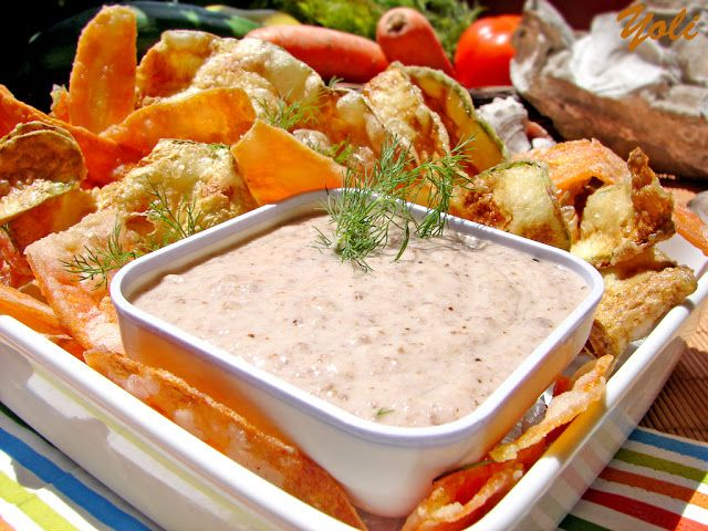 Вкусно с Йоли: Зеленчуков чипс със сос скордаля