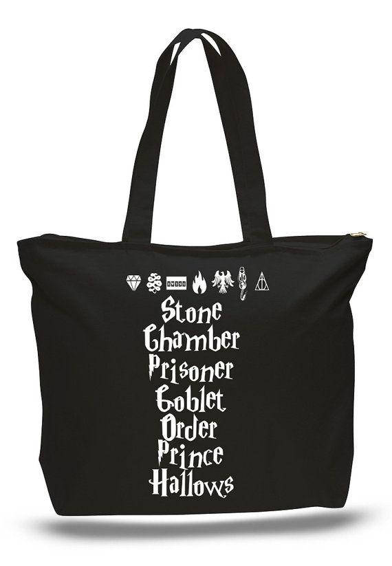 Harry Potter boeken en symbolen Tote tas boek Tote door NerdGirlTees