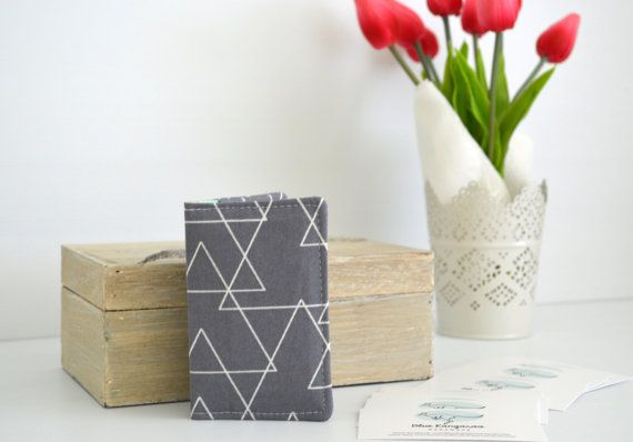 Business card wallet mini wallet loyalty by BlueKangarooHandmade