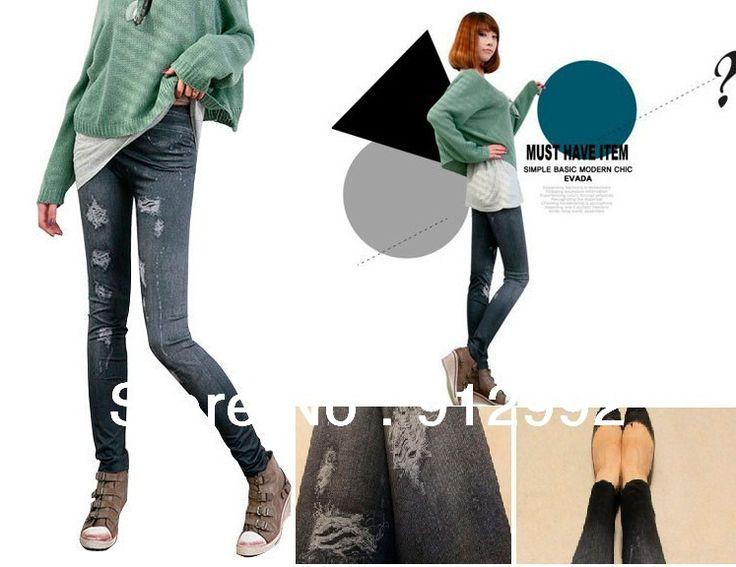 Джинсы леггинсы для женщины деним джинсы печать одежда женская сексуальный брюки-карандаш печать леггинсы