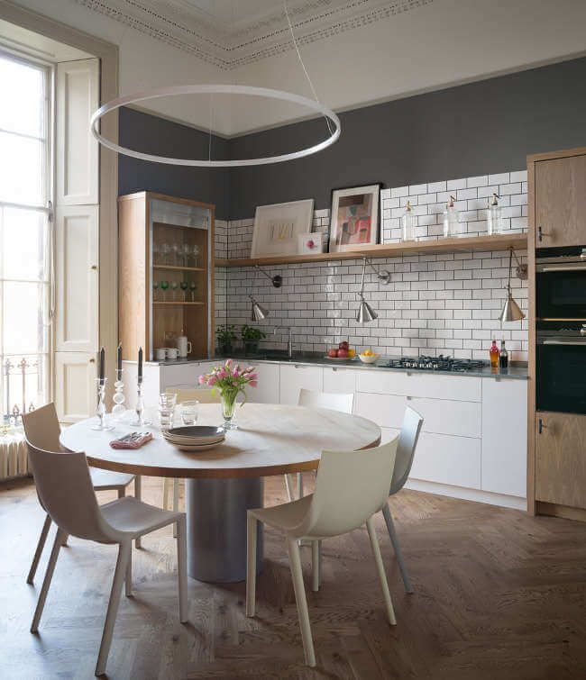A Colourful Edinburgh Georgian Flat Georgian Kitchen Kitchen Design Styles Flat Decor