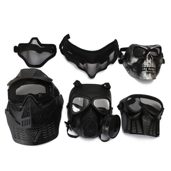 Protective Safety Mask For Paintball Airsoft Game Motorcycle CS Military Shooting Tactical 6 Styles Sale - Banggood Mobile