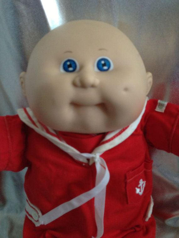 Vintage Cabbage Patch Kid Bald/Blue Sailor Boy HM 8 KT ...