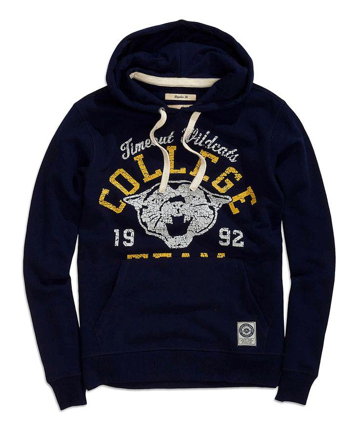 Navy 'College' Hoodie