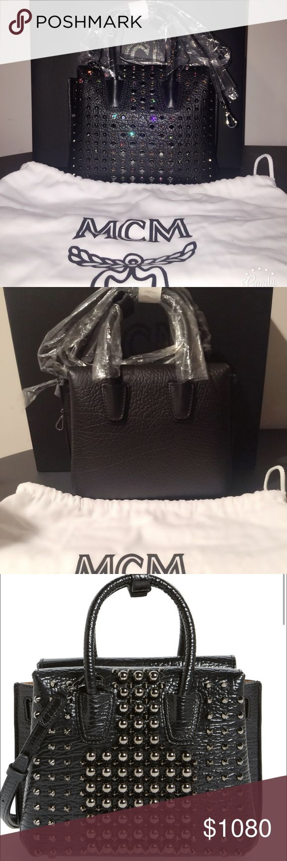 AUTHENTIC MCM Milla Mini Studded Tote MCM Milla mini studded cross body tote. Still in packaging, NEVER used. Price tag was taken off because it was purchased as a gift for someone. Please no trades! MCM Bags