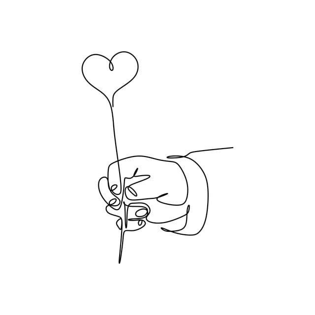 خط متواصل رسم الأيدي و الحب خلاصة فن الخلفية Png والمتجهات للتحميل مجانا Continuous Line Drawing Single Line Drawing Heart Drawing