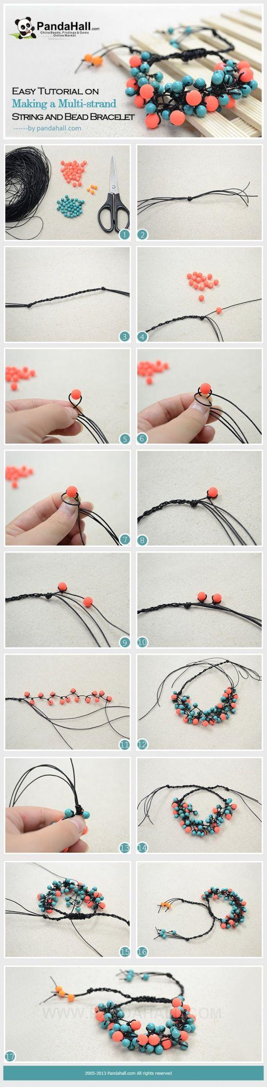 Easy Tutorial on Making a Multi-strand String and Bead Bracelet by vickyhall | Project | Jewelry / Bracelets | Kollabora
