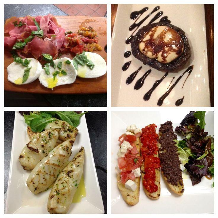 Prosciutto e mozzarella - Portobello alla Griglia - Calamari Griglia - Bruschette Miste