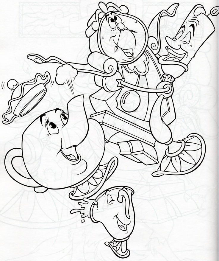 Beauty And Beast Coloring Pages Free For Kids Beauty And The