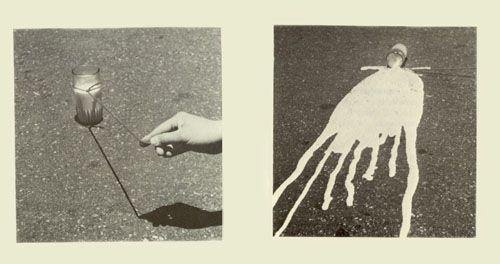 Cecilia Vicuña VASO DE LECHE (1948-) 1979 Acción de Arte Registro Fotografico