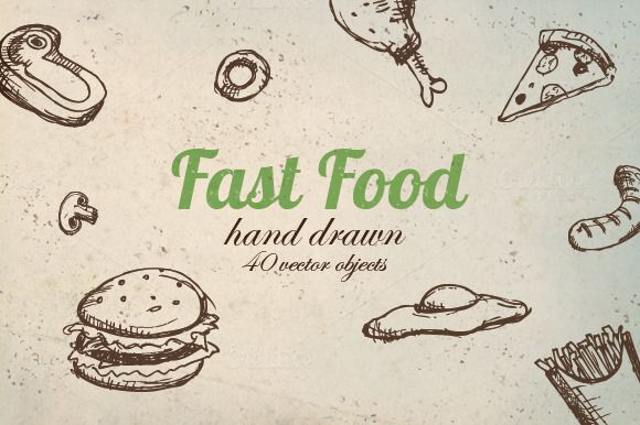 Vector Fast Food Pack by MonstroCity on @creativemarket
