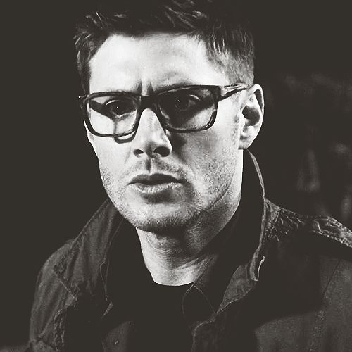 Jensen Ackles in glasses. I've been staring at this for ten minutes, because science.
