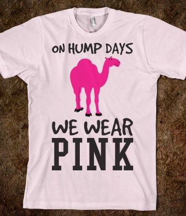 On Hump Days we wear Pink  tee t shirt-want this
