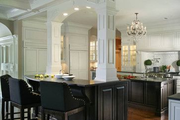 black kitchen cabinets | Black and White Kitchen Cabinets - contemporary - kitchen - new york ...