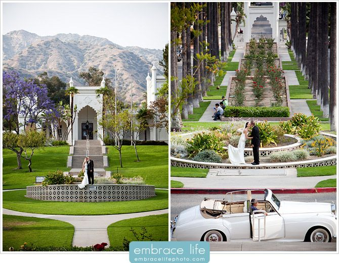 Pasadena and Glendale Wedding Venues List! (Pictured: The Brand Library: Whispering Pines Tea House, and Doctor's House  Gazebo).