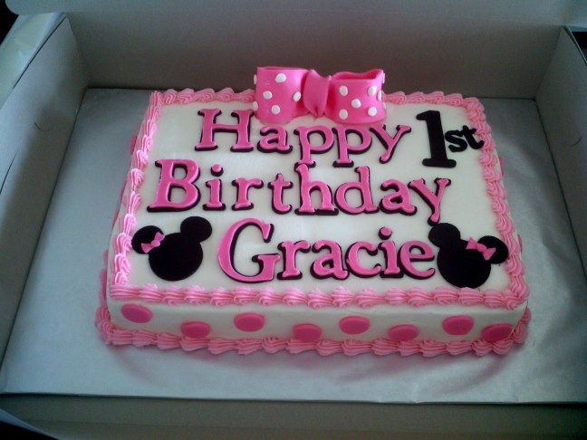 Minnie Mouse Sheet Cake Images : mini mouse birthday cake Baby Girl Party Ideas ...