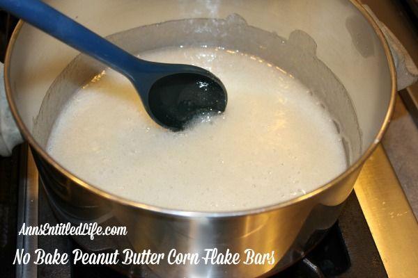 No Bake Peanut Butter Corn Flake Bars