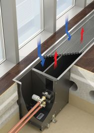 VARMANN Ntherm Maxi встраиваемый конвектор отопления. Артикул: NMR 180.300.800 RR U EV1 Встраиваемый конвектор отопления, высокой тепловой мощности VARMANN Ntherm Maxi, без вентилятора, решетка анодированная (серебристая).Гарантия производителя.