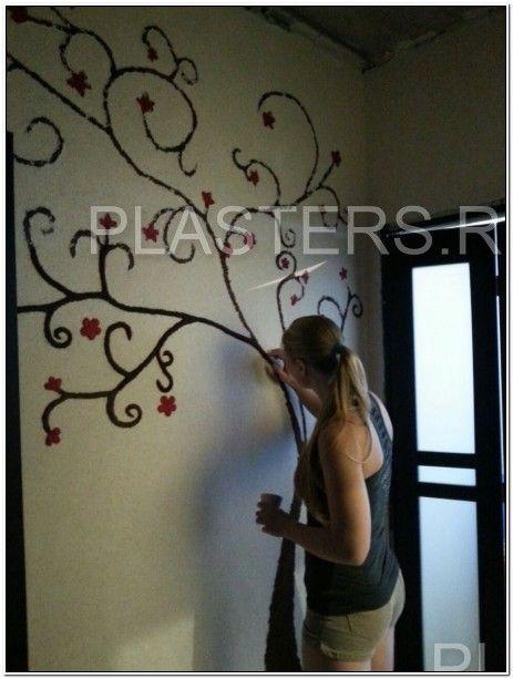 Хочу поделиться своей #идеей_ремонта, который делала у себя дома. Делать в #коридоре дерево, используя #жидкие_обои #Silk_plaster. Общий фон был сделан в бежевых тонах той же #шелковой_штукатурки. Дерево делала позже и в результате оно получилось с #эффектом_3D. http://www.plasters.ru/info/design-ideas/aktsiya_remont_povod_dlya_tvorchestva/olga_egorova/