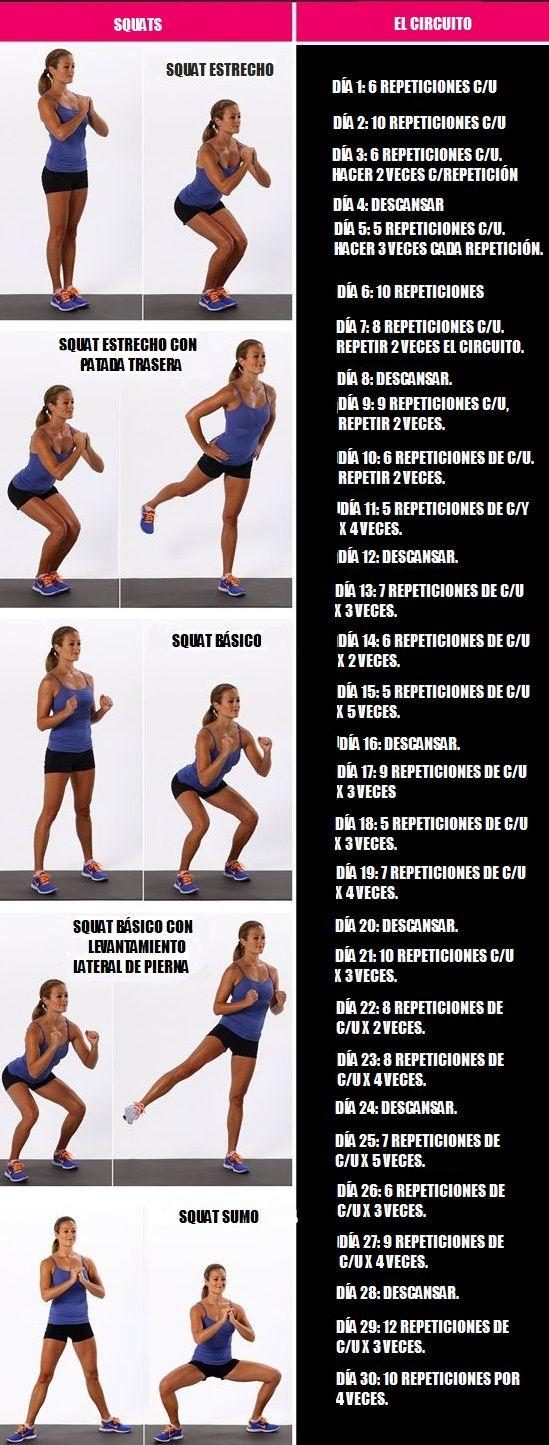 Tabla de ejercicios 30 dias
