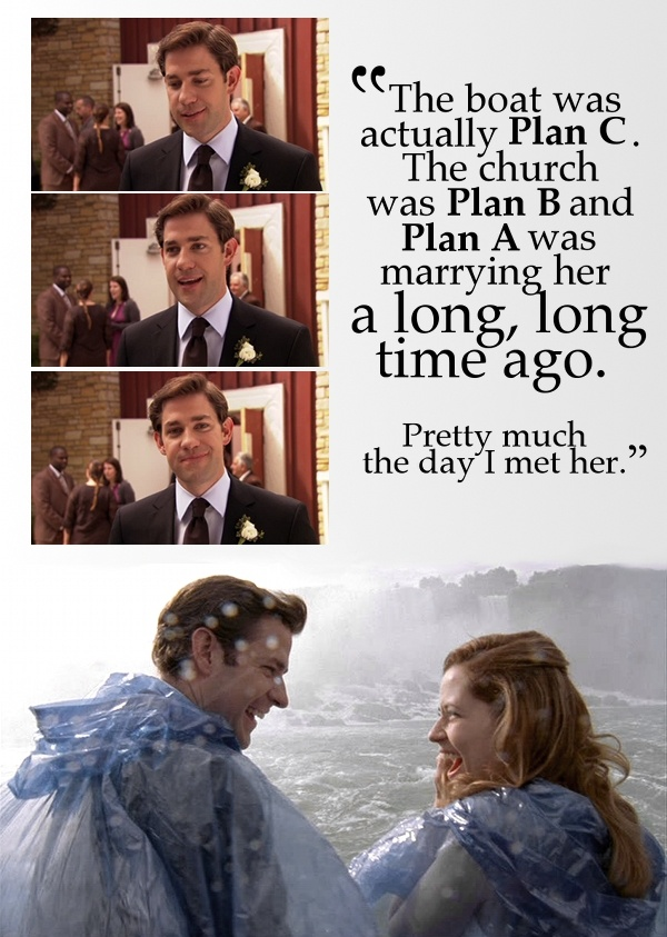 Jim and Pam from The Office. Adorable.