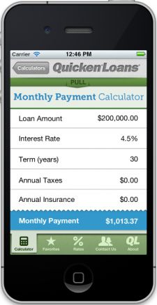 Quicken Loans introduces free mortgage calculator app