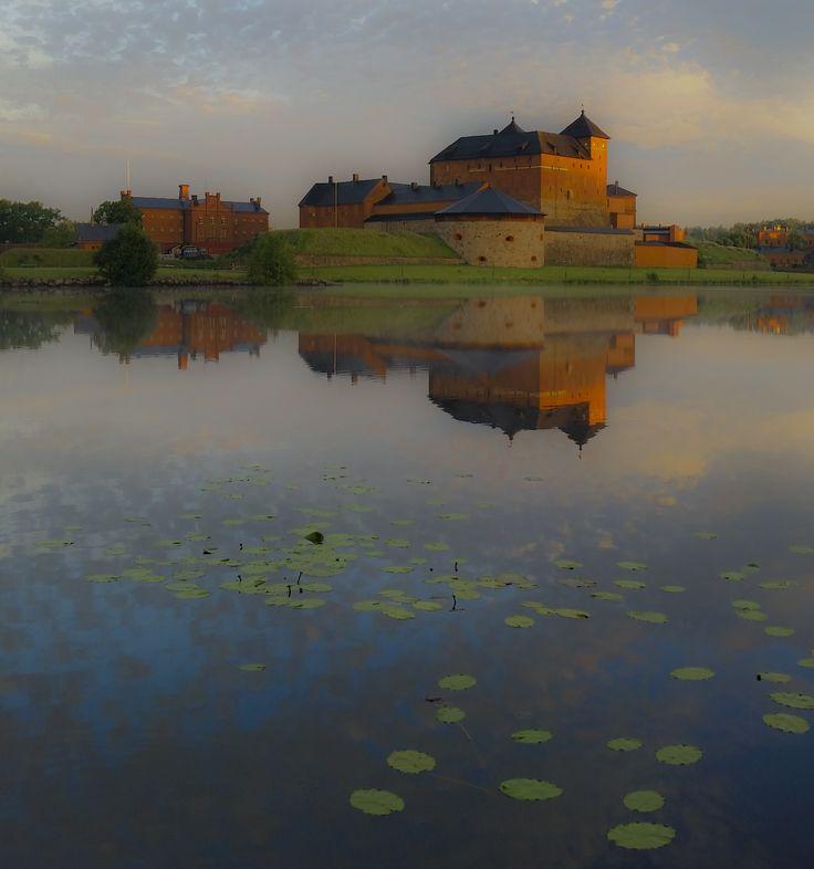 Häme Castle by the lake of Vanajavesi