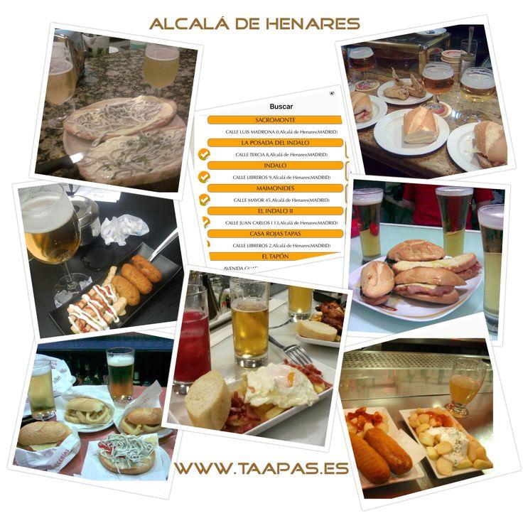 El #paraiso de las #tapas en #madrid... #alcaladehenares. Una pequeña #granada en la capital  si quieres saber las fotos de que bares son, consulta en nuestra web o apps