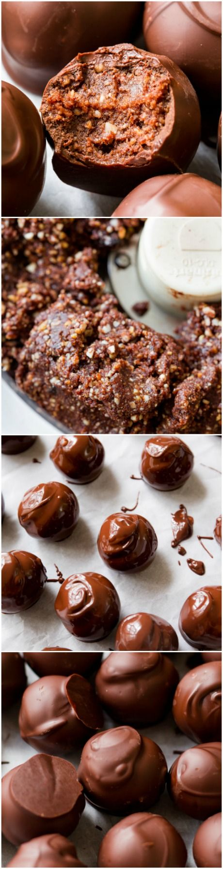 Seriously! HEALTHY truffles made with dark chocolate. Easy recipe found on sallysbakingaddiction.com