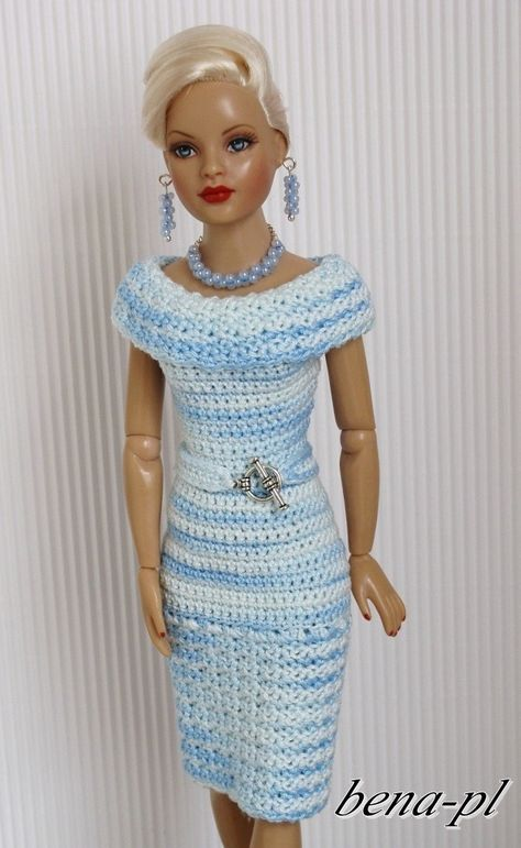 free crochet doll costumes for barbie dolls - Google Search