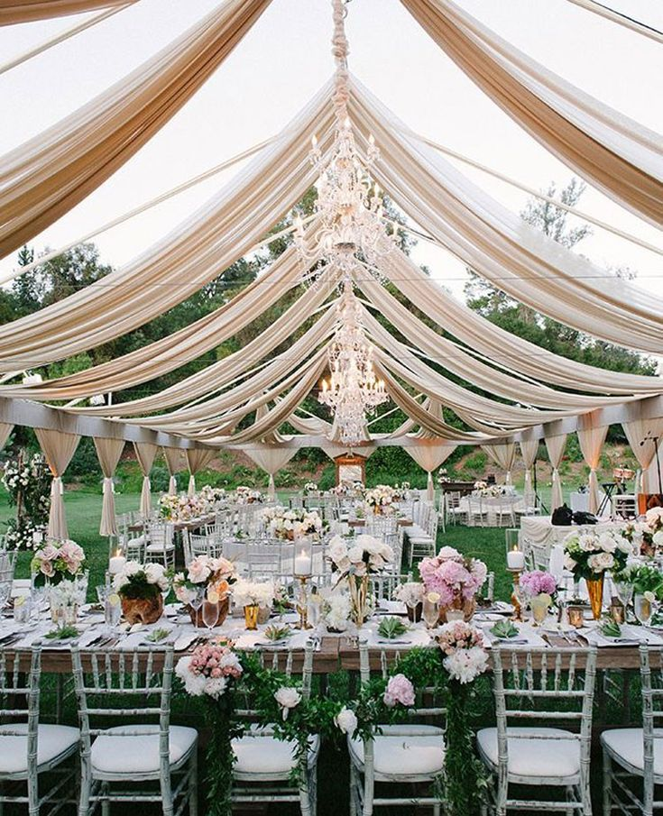 Romantic outdoor wedding reception | Yvette Roman Photography