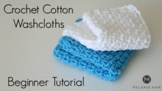 Easy Cotton Crochet Washcloth Tutorial!