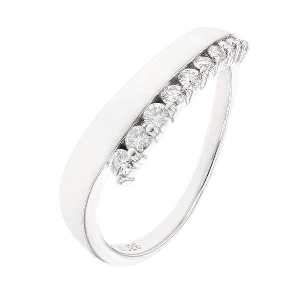 Bague diamants 0.21 carat en or blanc en 2018   Diamant   Pinterest ... 222a5fcf063a