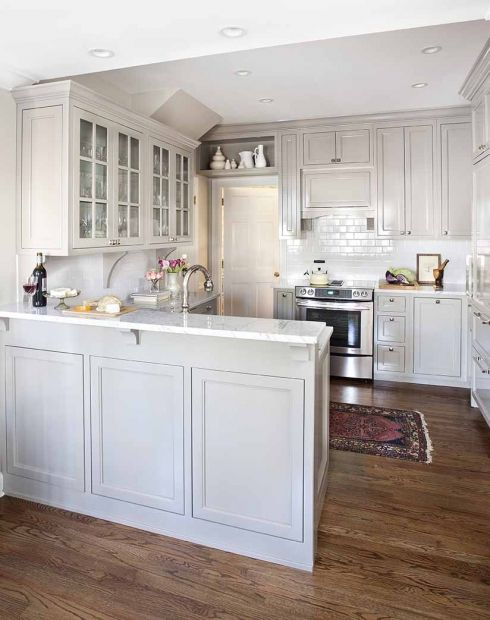 Beautiful White Kitchen With Frig