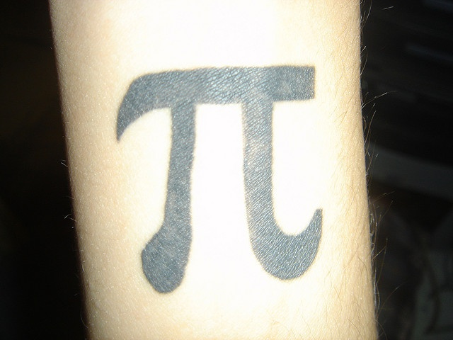 Pi tattoo but on my chest