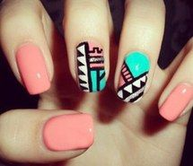 Inspiring picture aztic, astic, amazing, beautiful, cute, diy, love, nails, pretty. Resolution: 400x406. Find the picture to your taste!
