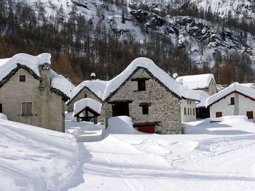 Alpe Devero in winter season.