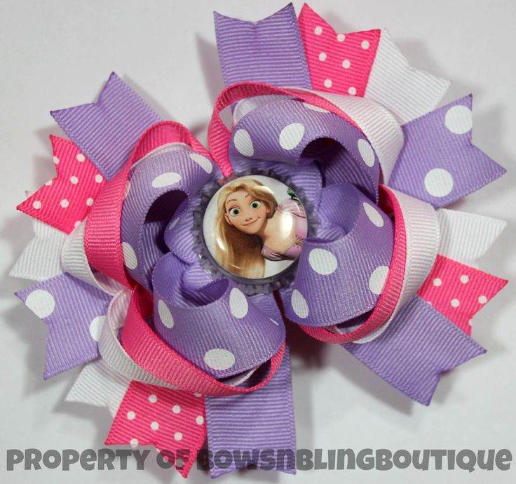 Rapunzel Hair bow Boutique Bows