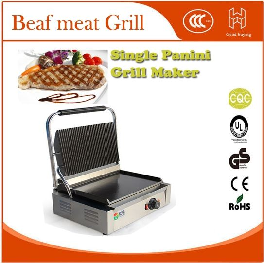 308.00$  Buy now - http://alixhd.worldwells.pw/go.php?t=32704128712 - Electric Skillets Restaurant Cooking Kit machine Panini Grill Sandwich maker single Beaf meat Grill 308.00$