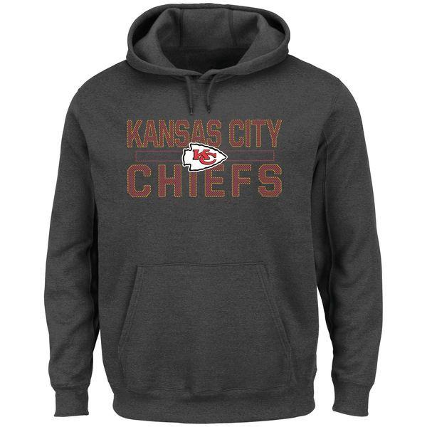 Kansas City Chiefs Majestic Big & Tall Kick Return Pullover Hoodie - Charcoal - $64.99