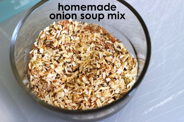 Dry Onion Soup Mix Homemade - don't buy packaged mix when you can make your own with just spices and herbs. No funky ingredients.