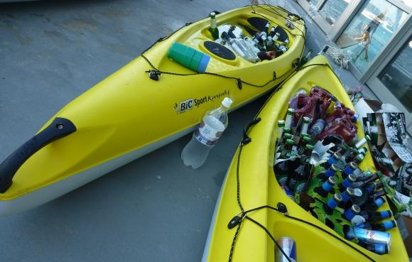 Fun Way To Display Beer For Summer Parties Kayak Coolers